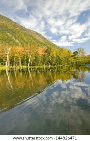 Crawford Notch State Park in the White Mountains, New Hampshire - stock photo