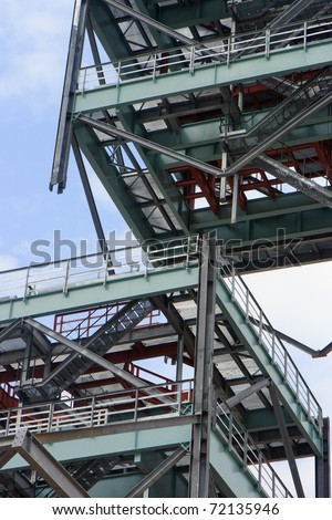 Crawler crane, super lift of over 100 tonne of steel - stock photo
