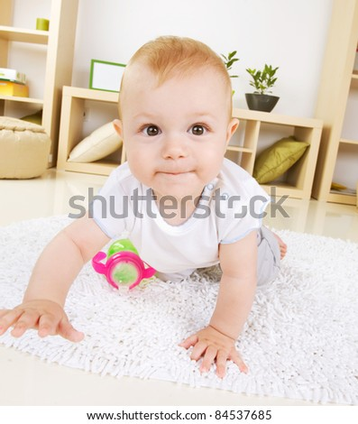 Crawling Baby boy - stock photo