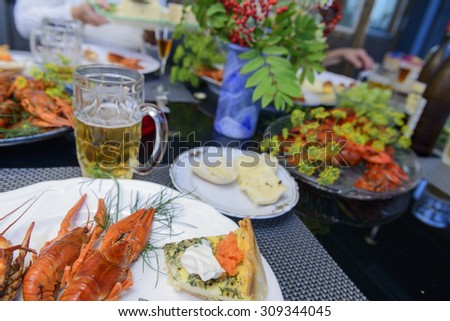 Crayfish party - stock photo