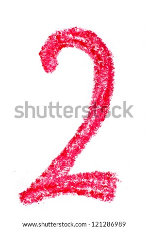 Crayon number - stock photo