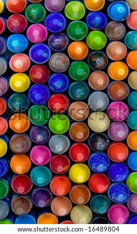 crayons close up - stock photo