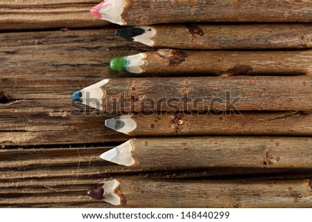 crayons decoration  - stock photo