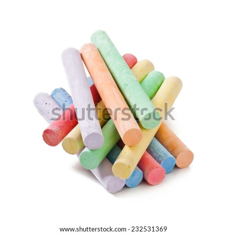 crayons isolated on white background