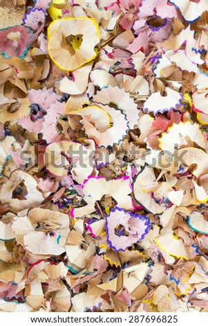 crayons  sharpening shavings texture for background