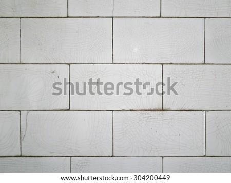 Crazed White Subway Tile