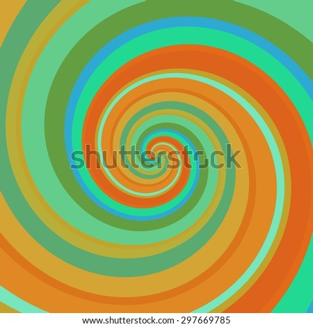 Crazy and funny abstract spirals in amazing colors