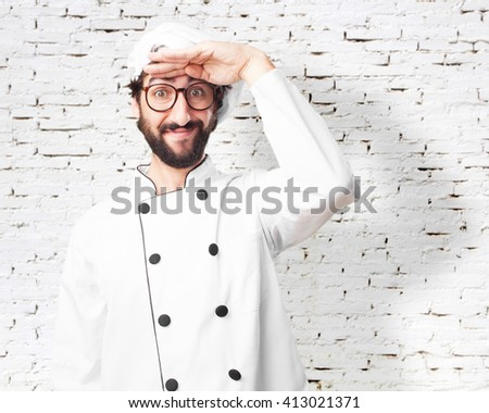 crazy chef happy expression