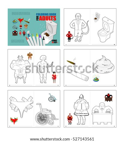 Crazy Coloring Book Adults Prostitute Red Stock Illustration ...