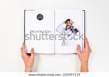 Crazy doctor - stock photo