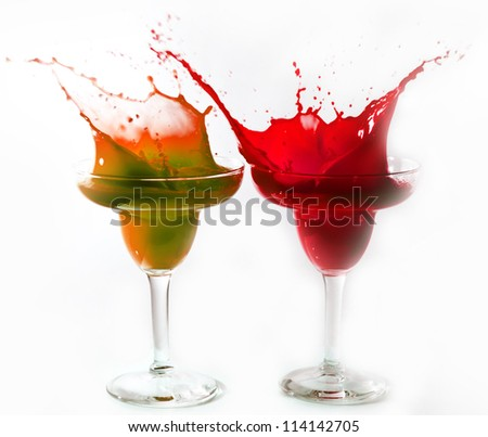 Crazy drinks - stock photo