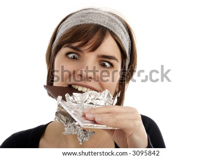 Crazy for chocolate - stock photo