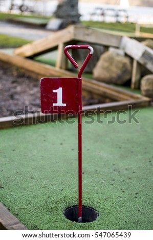 Crazy Golf Flag - Number 1