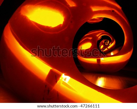 Crazy Haloween pumpkin - stock photo