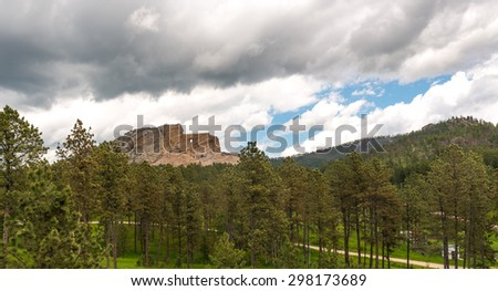 Crazy Horse Memorial - stock photo