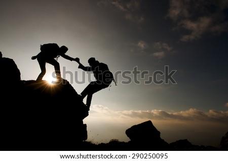 crazy mountaineer - stock photo