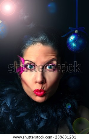Crazy New Year's Eve - stock photo