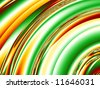 Crazy quarter circles in bright shades of red, green,orange, yellow and white make up a funky beautiful fractal background. - stock photo