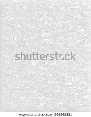 Crazy Sale text white metallic 3D background template. - stock photo