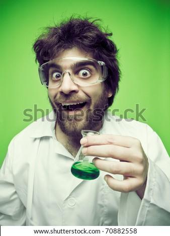 Crazy scientific - stock photo