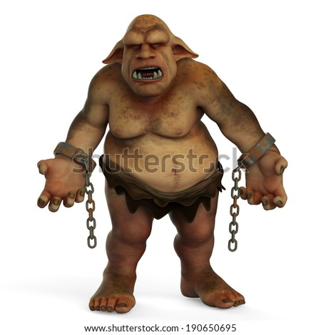 crazy troll is free - stock photo