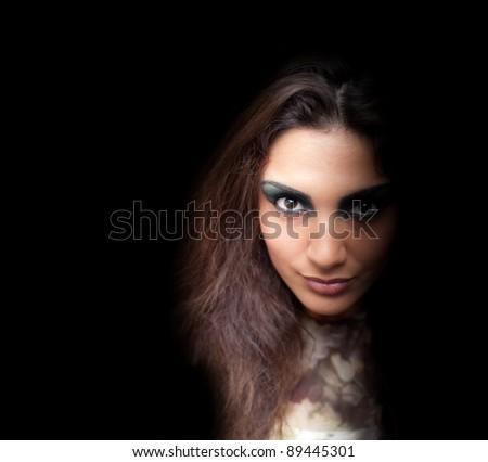 Crazy woman - stock photo