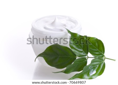 Cream and aloe - stock photo