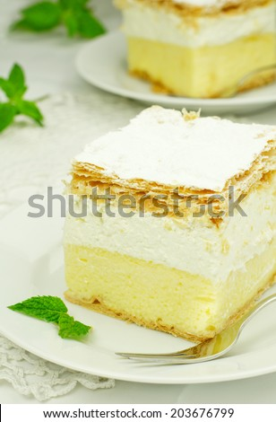 Cream and custard pastry