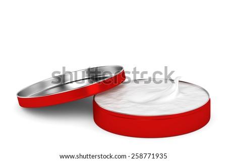 cream box red - stock photo