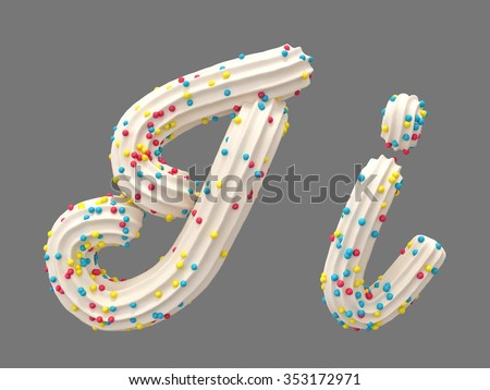 Cream candy font - stock photo