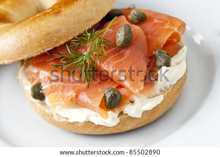 smoked salmon bagel bagel smoked salmon cream calories in a bagel with ...