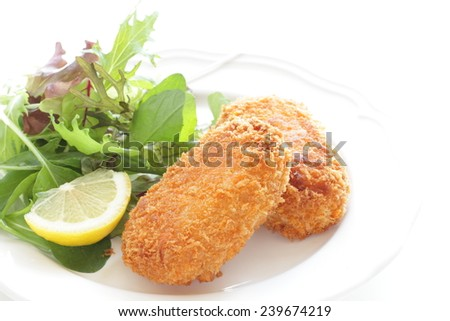 Cream croqette - stock photo