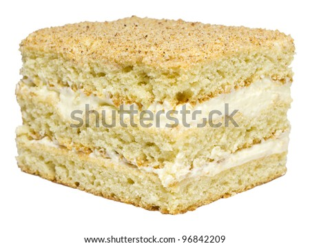 Cream Isolated Cake - stock photo