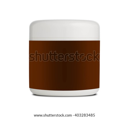cream isolated on white background.