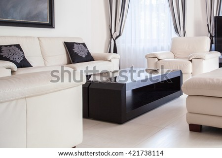 Cream lounge set modern sitting room stock photo royalty free