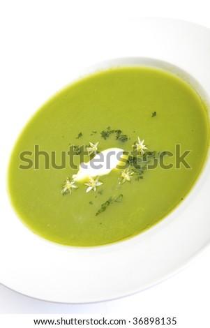 Cream of Asparagus - stock photo
