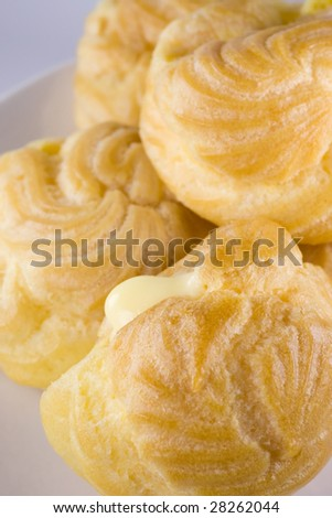 Cream puff - stock photo