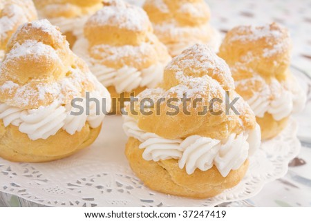 Pastry Cream Filling Cream Puffs Filled With Pastry