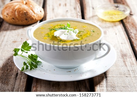 Cream soup - stock photo