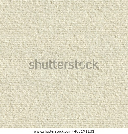 Cream textured paper. Seamless square texture. Tile ready. - stock photo