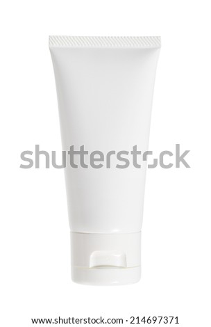 Cream tube (with clipping path) isolated on white background