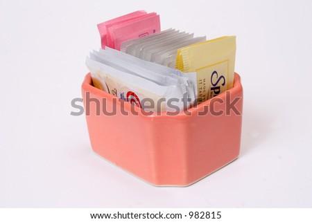 creamer, sugar and spices - stock photo