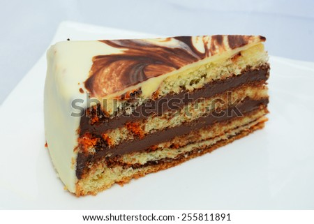 Creamy cake - stock photo