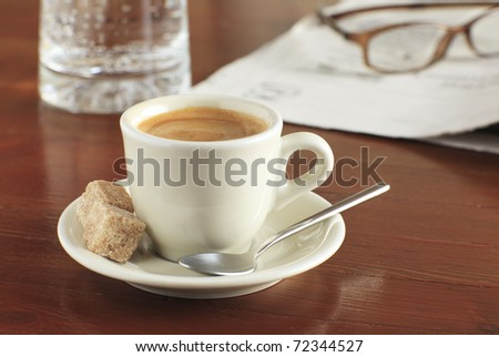 Creamy cup of coffee - stock photo