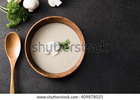 Creamy Mushroom Soup - stock photo