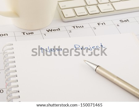create ideas for new project, business concept - stock photo