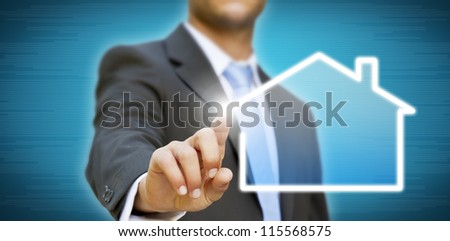 Create your company businessman concept