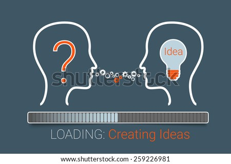 Creating idea process for your design - stock photo