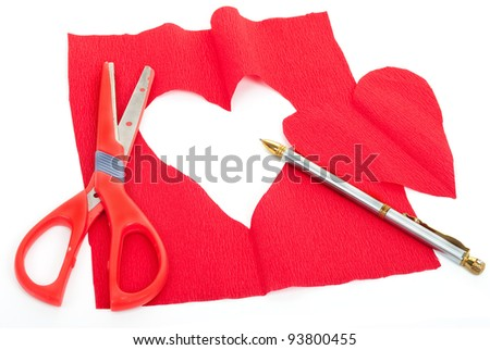 Creating red paper heart