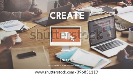 Creation Create Ideas Creativity Imagination Invention Concept - stock photo